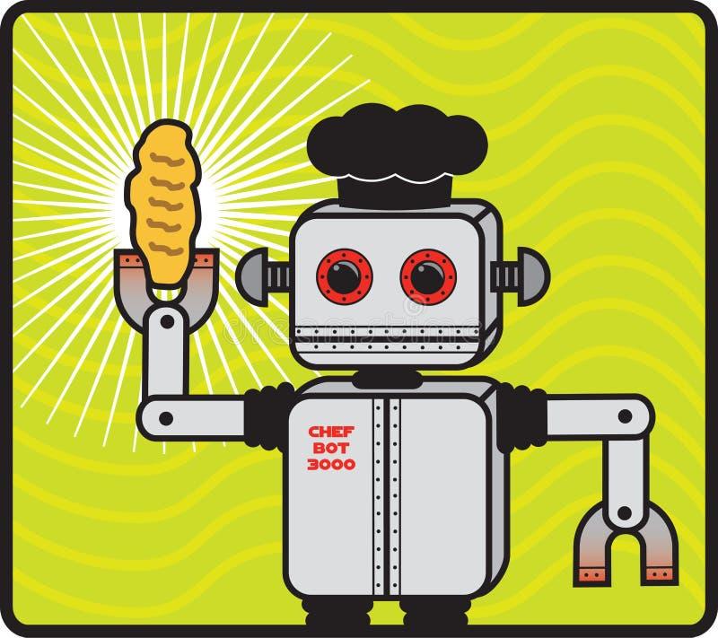 Roboter-Bäcker stockfoto
