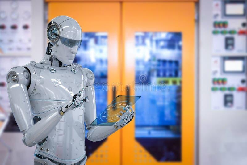 Roboter in der Fabrik vektor abbildung