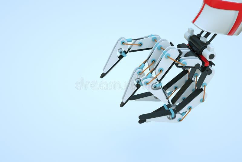 Roboter der Maschinen-3D in der Bewegung Nette Wiedergabe 3D lizenzfreies stockfoto