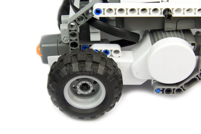 Roboter in der Tätigkeit - Ausbildung mit Technologie stockfoto