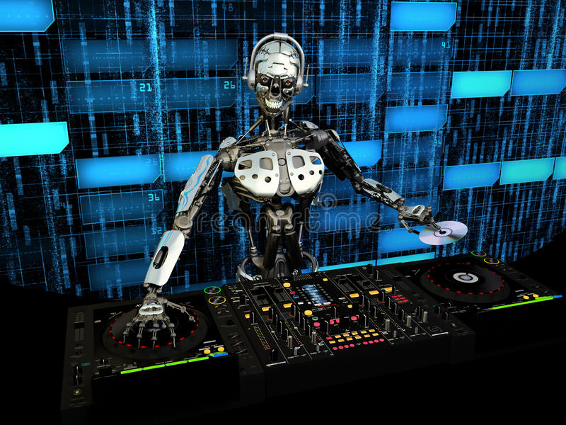 Roboter DJ vektor abbildung