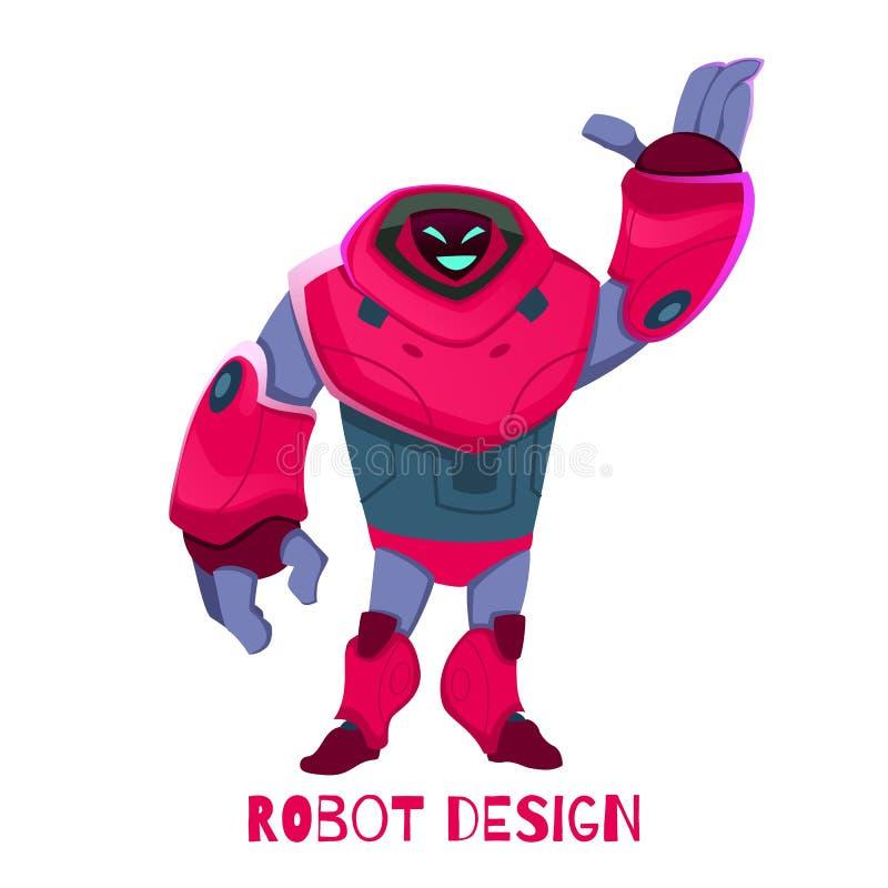 Roboter-Entwurfs-Vektor-Illustration der neuen Generation vektor abbildung