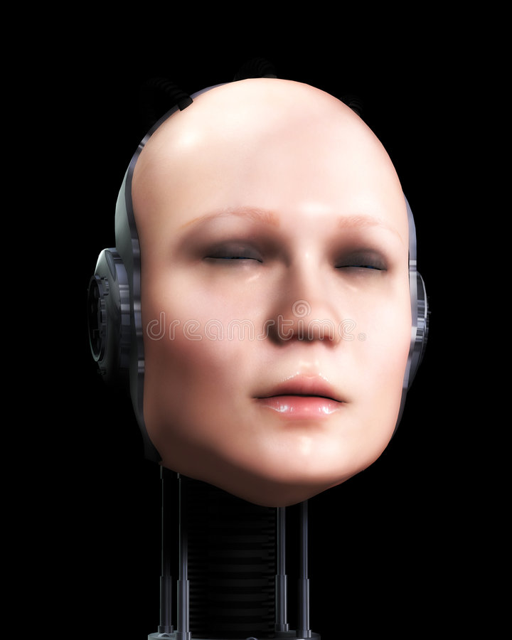 Roboter-Frauen 6 stock abbildung
