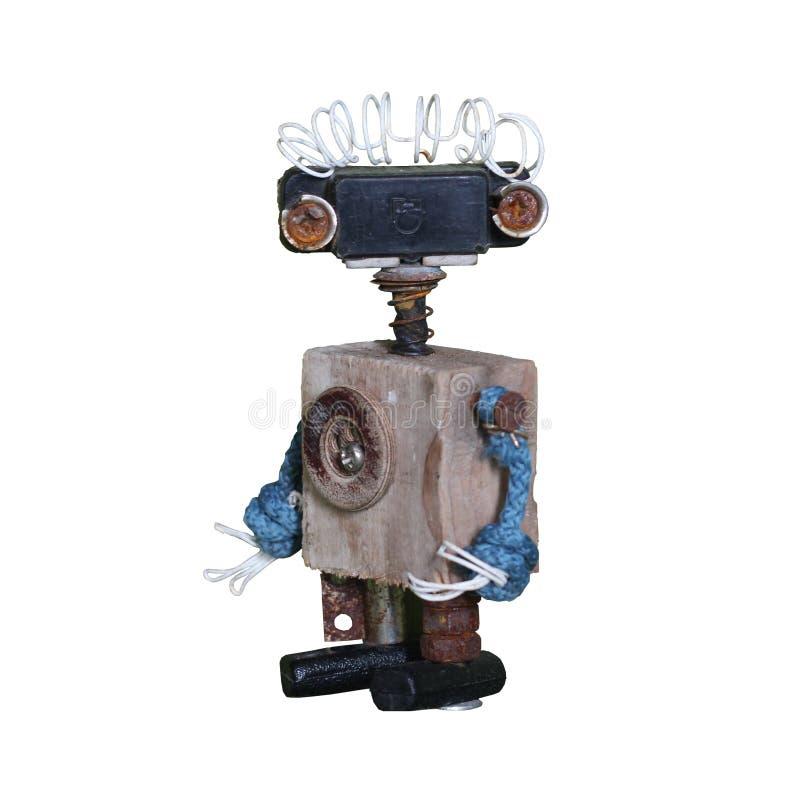 Roboter Halloween Zahl für Spiele stockbild