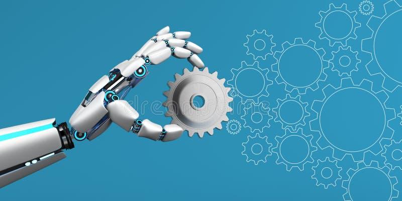 Roboter-Hebels-Rad lizenzfreie abbildung
