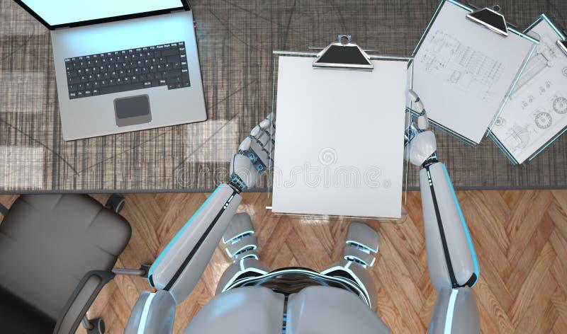 Roboter-Klemmbrett Schmematic stock abbildung