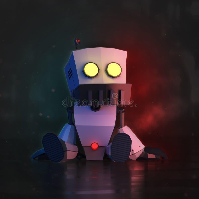 Roboter LowPoly lizenzfreie abbildung