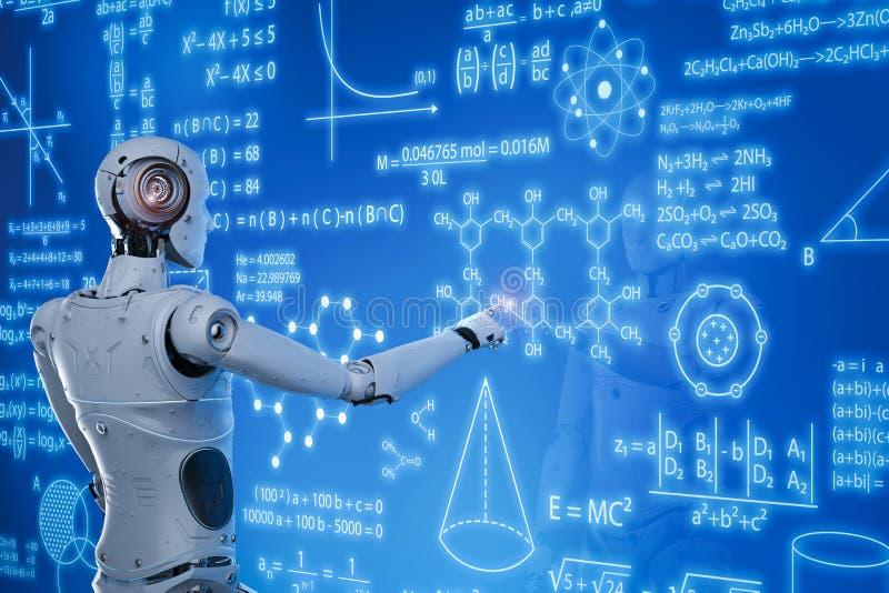 Roboter mit Bildung hud vektor abbildung