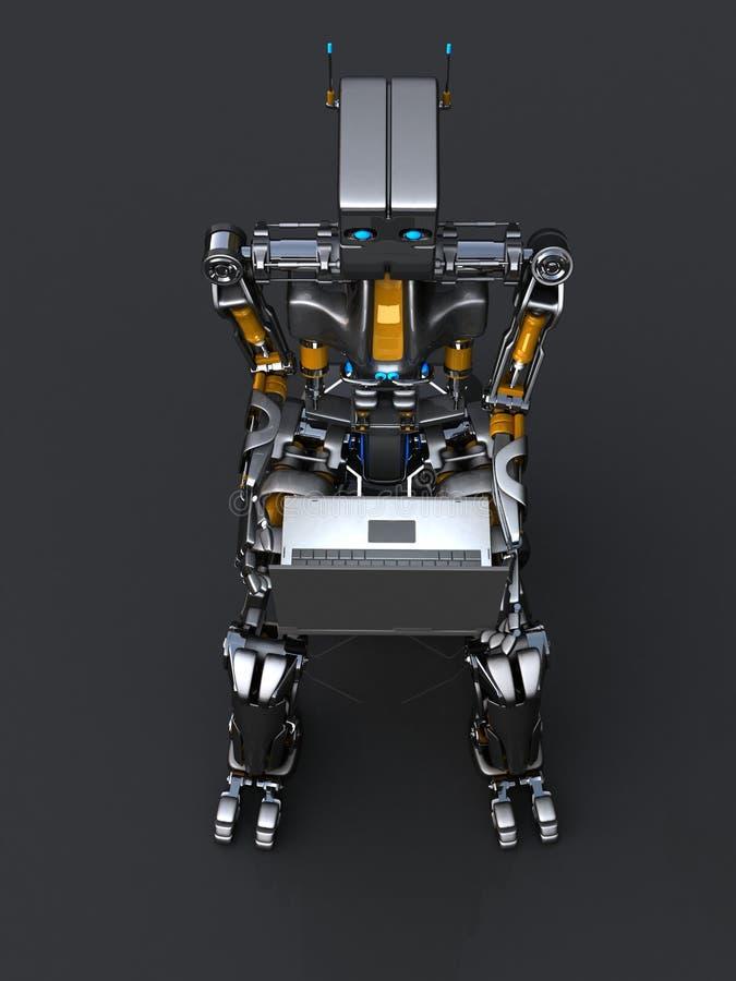 Roboter mit Laptopen stock abbildung