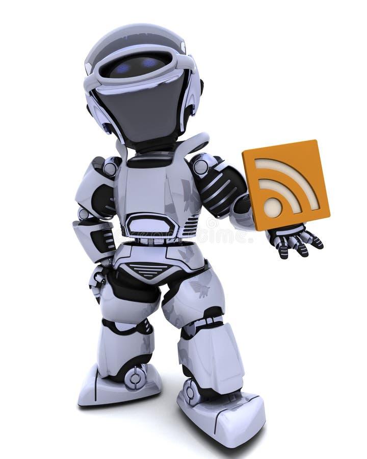 Roboter mit RSS Symbol vektor abbildung