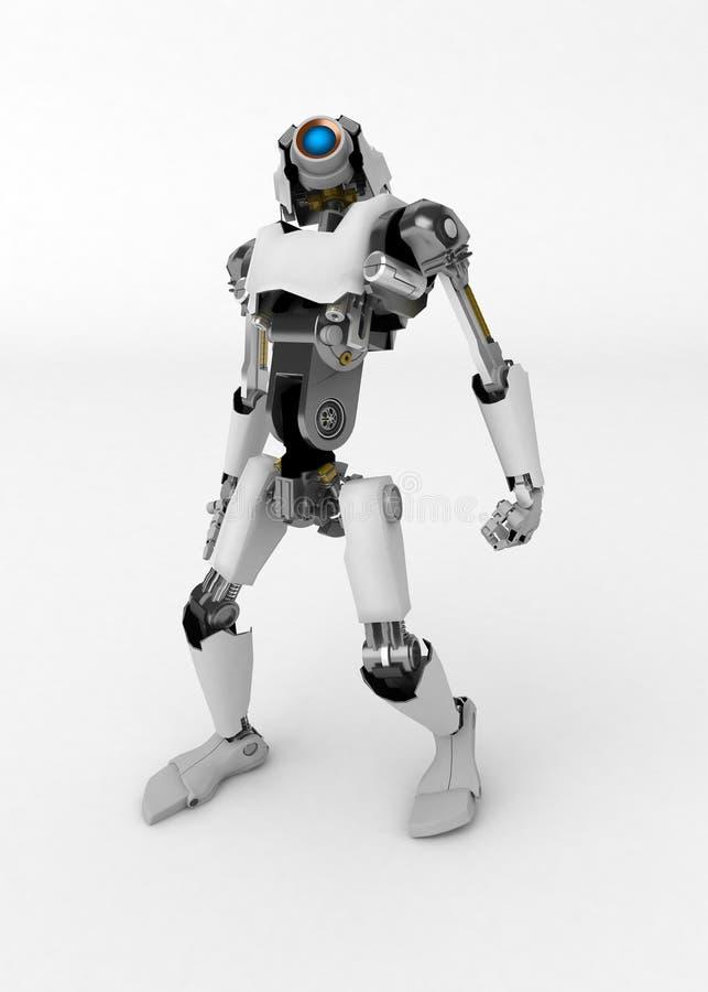 Roboter, oben schauend stock abbildung