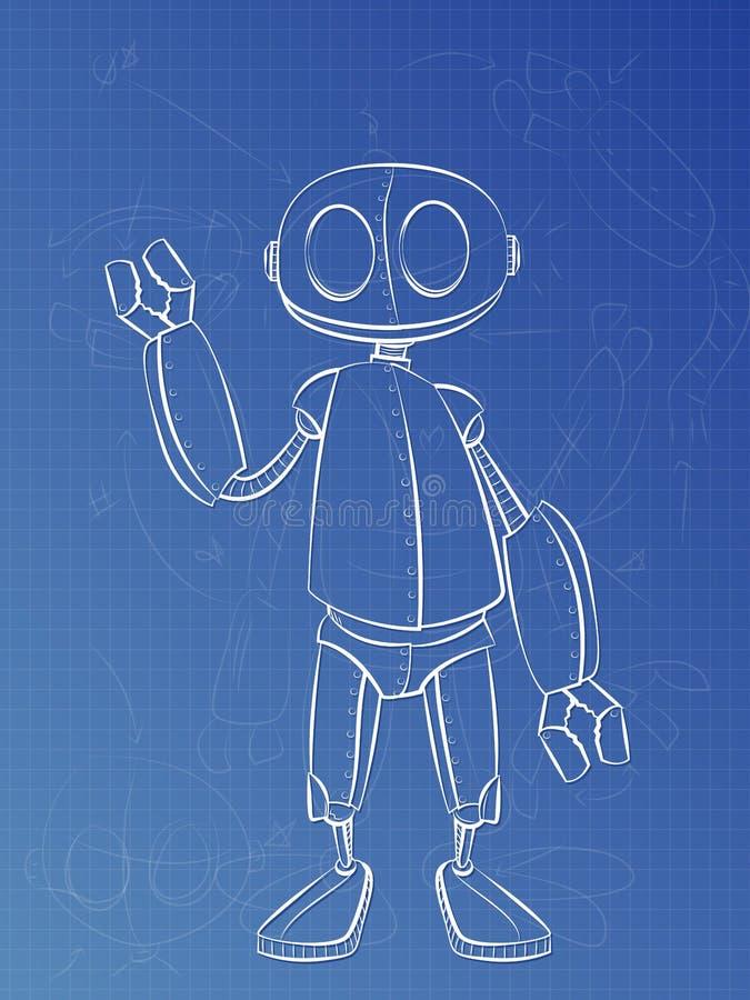 Roboter-Pläne lizenzfreie abbildung