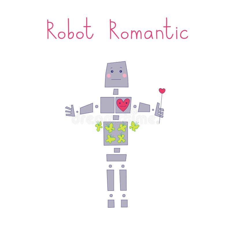 Roboter romantisch vektor abbildung