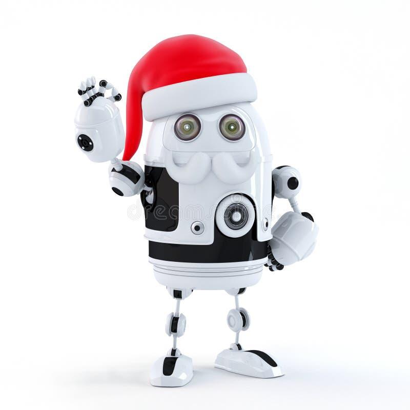 Roboter Sankt, die OKAYzeichen zeigt. Technologiekonzept lizenzfreie abbildung