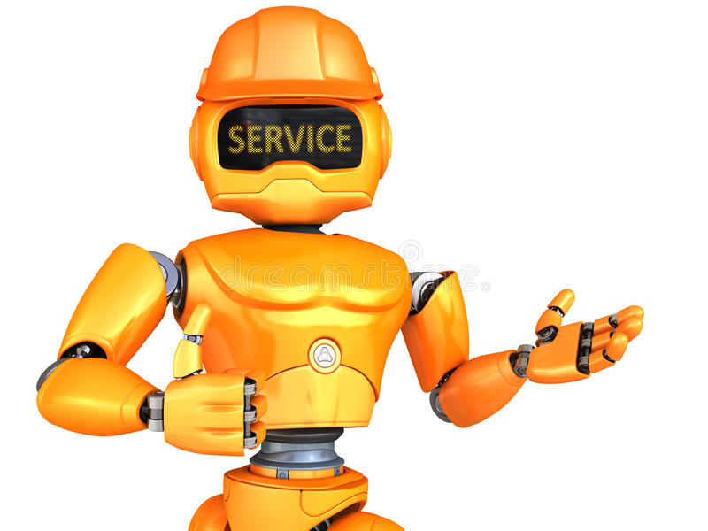 Roboter-Schlosser lizenzfreie abbildung