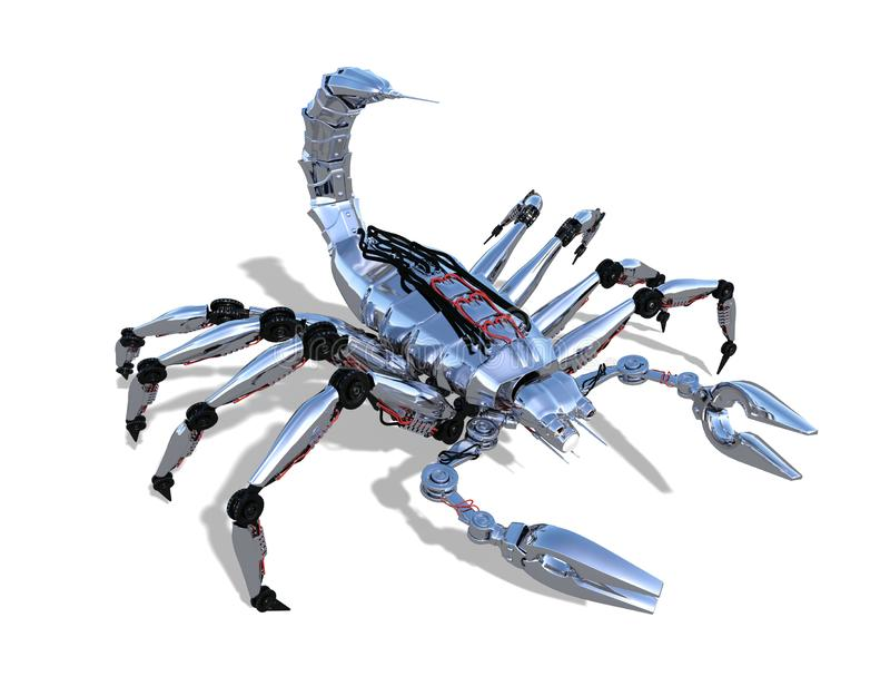 Roboter-Skorpion stock abbildung