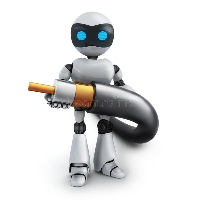 Roboter und Kabel vektor abbildung