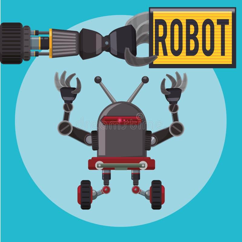 Roboter und Technologiedesign lizenzfreie abbildung
