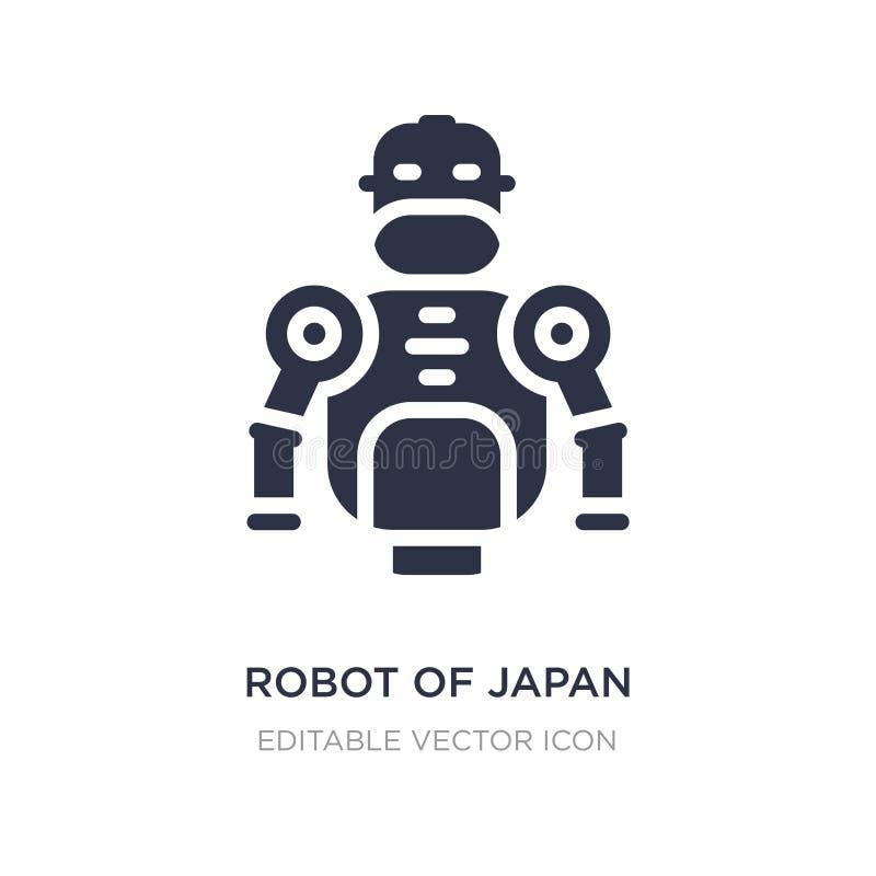 Roboter von Japan-Ikone auf weißem Hintergrund Einfache Elementillustration von anderem Konzept stock abbildung