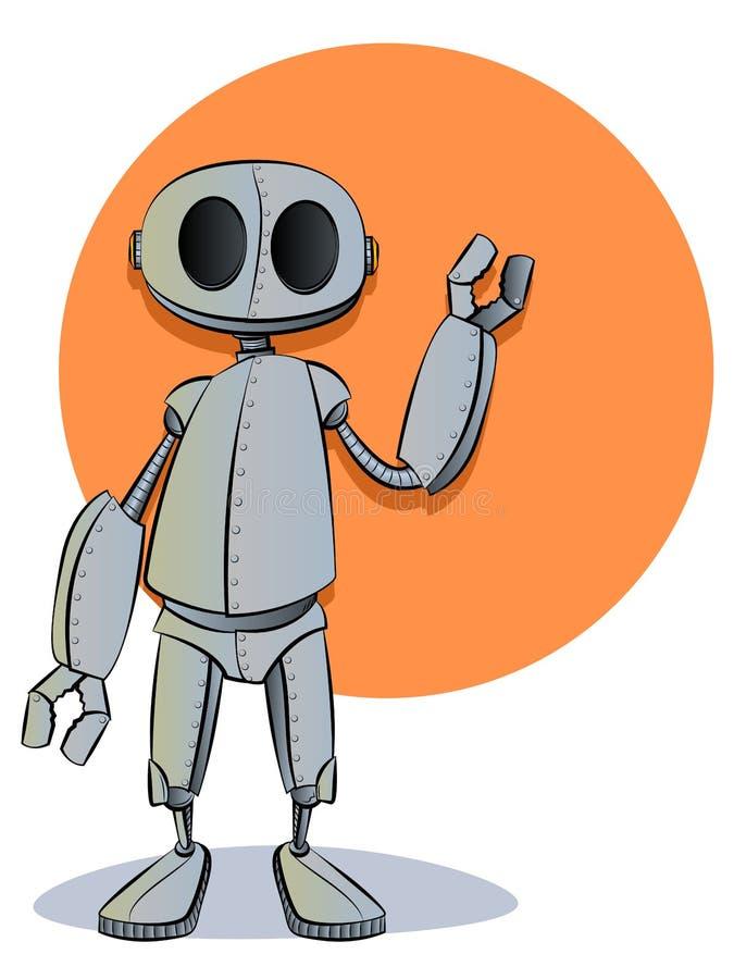Roboter-Zeichentrickfilm-Figur-Maskottchen lizenzfreie abbildung