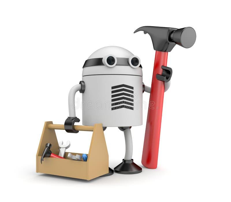 Roboterarbeitskraft stock abbildung