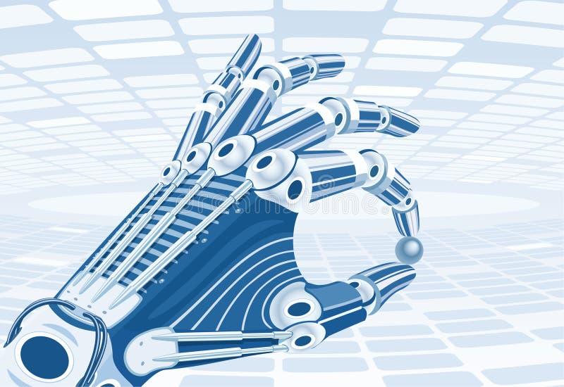 Roboterarm stock abbildung