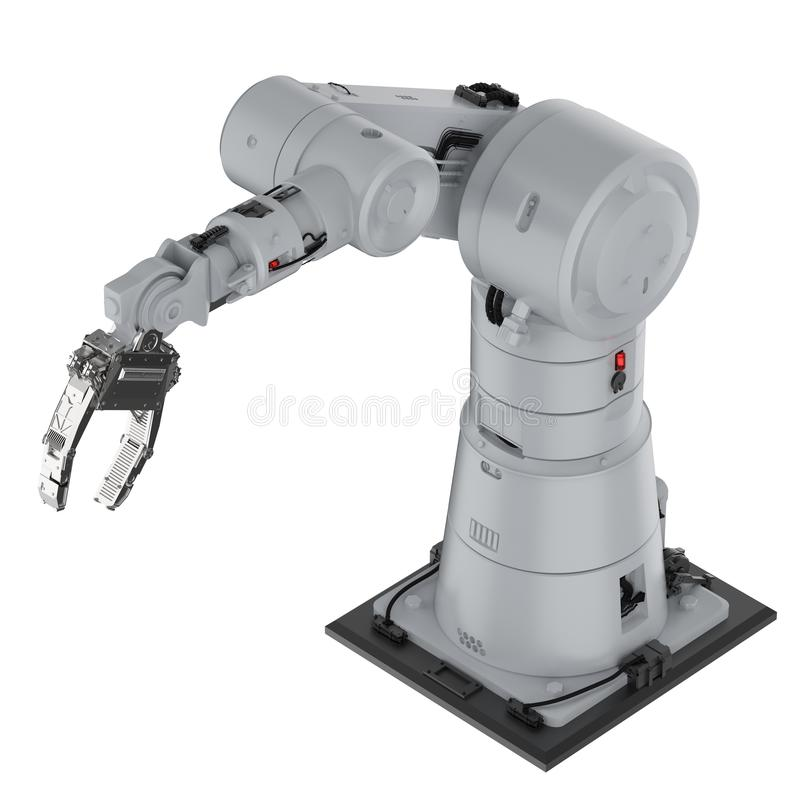 Roboterarm- oder Roboterhand vektor abbildung
