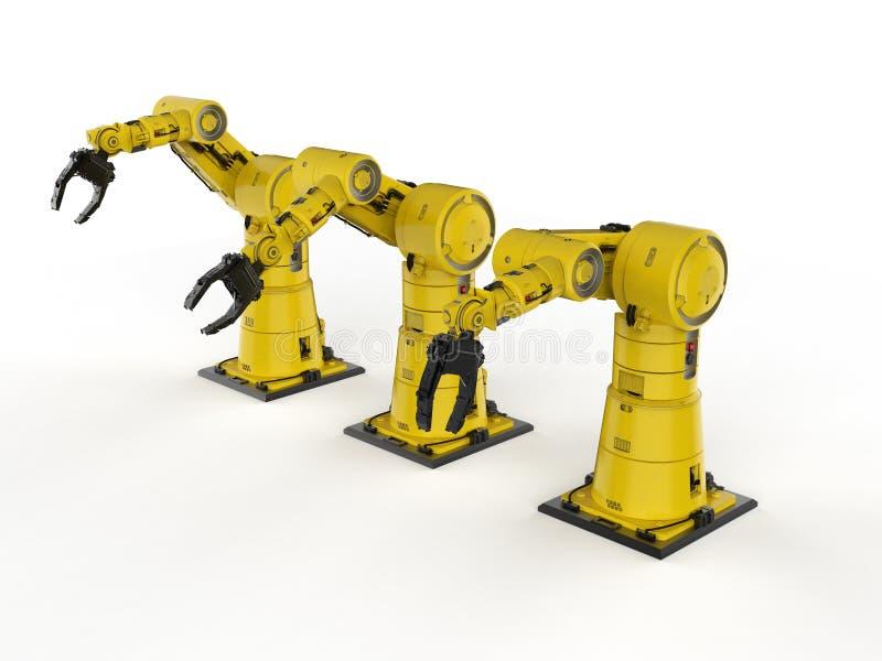 Roboterarm- oder Roboterhand lizenzfreie abbildung