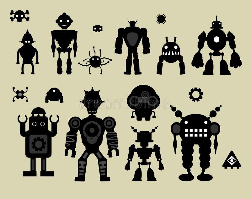 Roboteraufkleber stock abbildung
