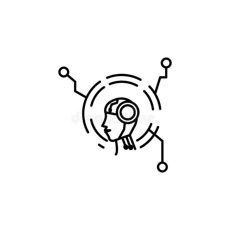 Roboterberater-Konzeptlinie Ikone Einfache Elementillustration Roboterberaterkonzeptentwurfs-Symboldesign vom Robotersatz Sein ka vektor abbildung