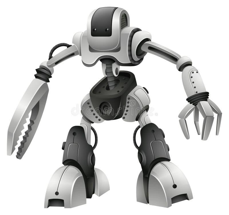 Roboterdesign mit den Waffenhänden lizenzfreie abbildung
