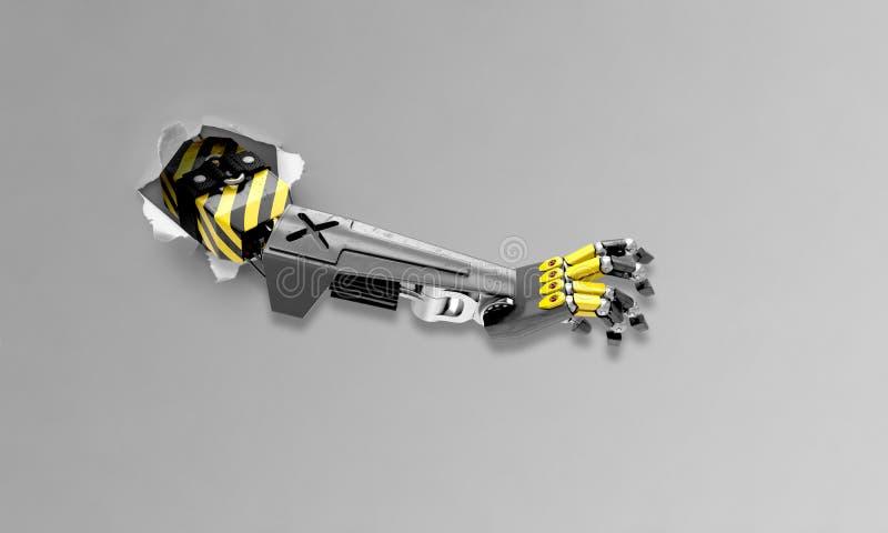 Robotereindringen lizenzfreie stockbilder