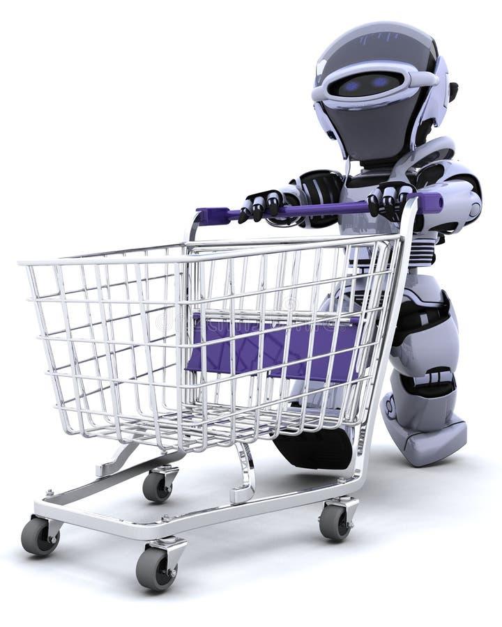Robotereinkaufen vektor abbildung