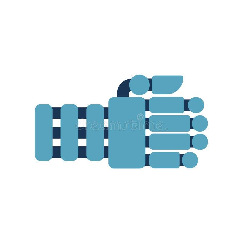 Roboterfaust lokalisiert Cyborghand Auch im corel abgehobenen Betrag lizenzfreie abbildung