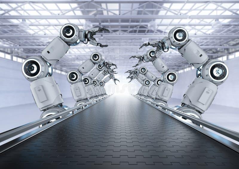 RoboterFließband lizenzfreies stockbild