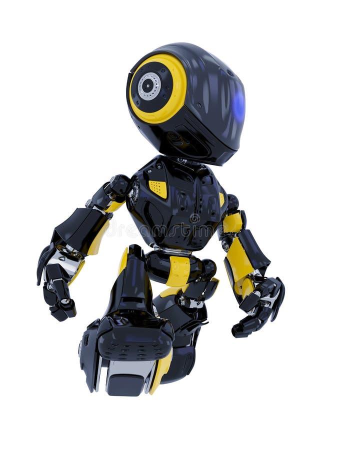 Robotergehen lizenzfreie abbildung
