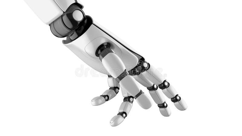 Roboterhand, die etwas nimmt lizenzfreie abbildung