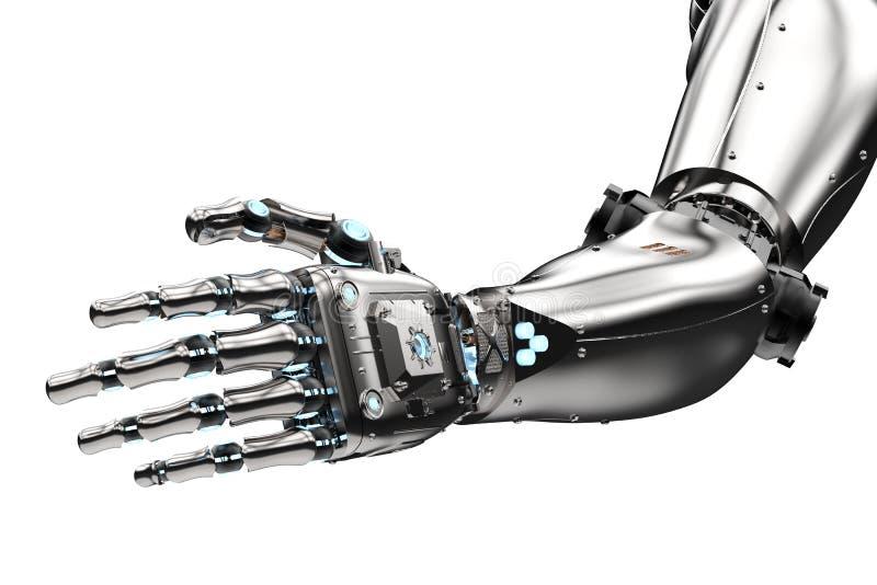Roboterhanderreichen stock abbildung