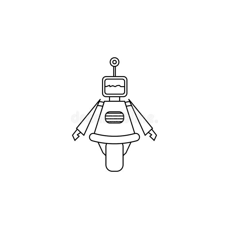 Roboterikone Element der populären Roboterikone Erstklassiges Qualitätsgrafikdesign Zeichen, Symbolsammlungsikone für Website, We stock abbildung