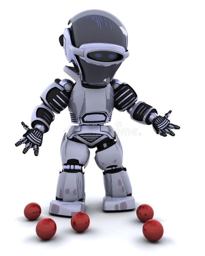 Roboterjongleur lizenzfreie abbildung