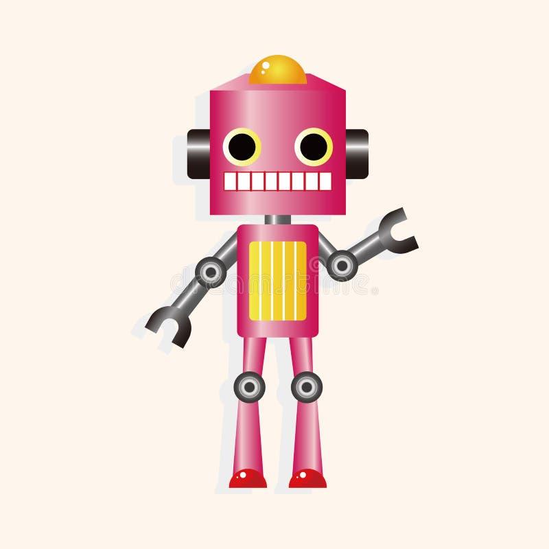 Roboterkarikaturthema-Elementvektor, ENV stock abbildung