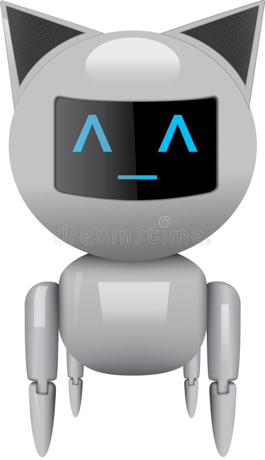 Roboterkatze vektor abbildung