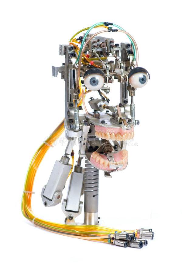 Roboterkopf stockfoto