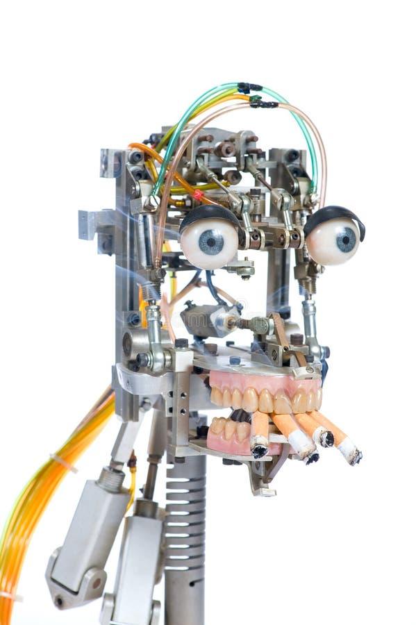 Roboterkopf lizenzfreie stockbilder