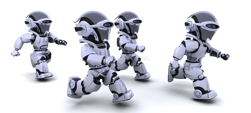 Roboterlaufen vektor abbildung