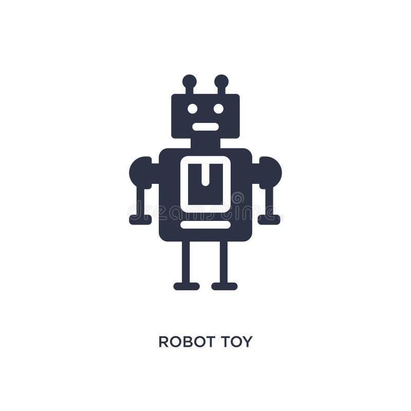 Roboterspielzeugikone auf weißem Hintergrund Einfache Elementillustration vom Spielwarenkonzept stock abbildung