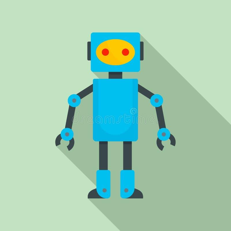 Roboterspielzeugikone, flache Art stock abbildung