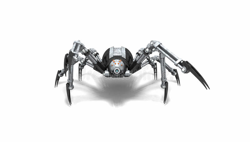 Roboterspinne lizenzfreie abbildung