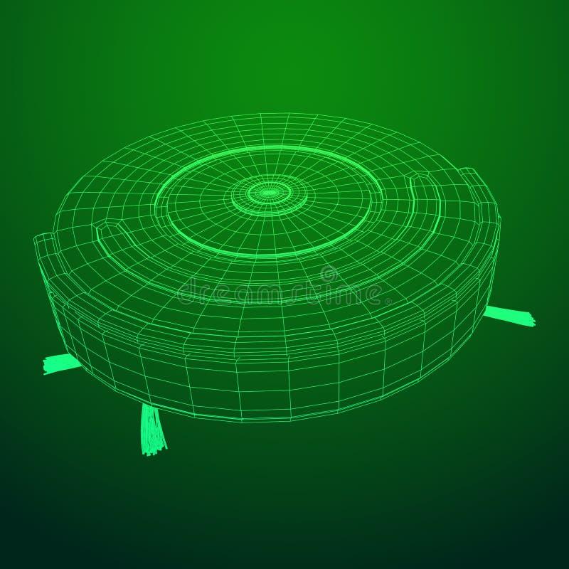 RoboterStaubsaugervektor vektor abbildung