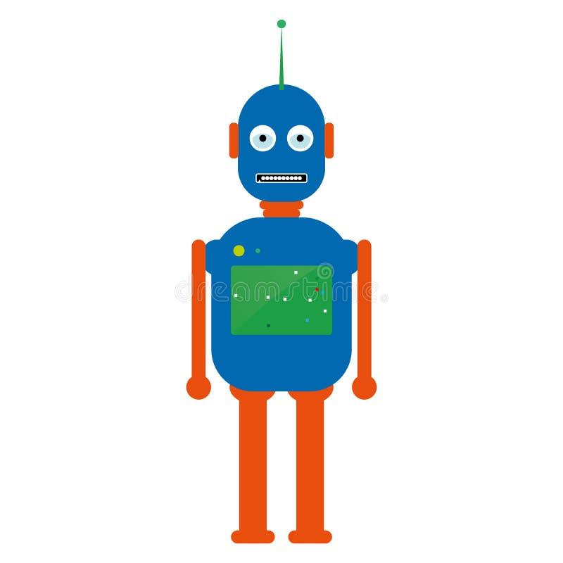 Robotervektor eps10 Hippie-Weinleseroboter Retro- Roboter Vektorillustration des Mechanikermonsters stock abbildung